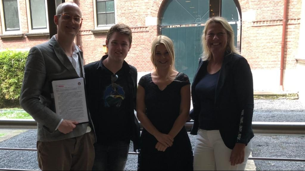 Neurodiversity Foundation with Merlin Blue, Ceo Tjerk, prikkelprofiel maker Saskia and politician Lisa