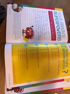 Page of the My Amazing Brain magazines in the classroom