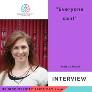 Neurodiversity Pride Day 2020 - Janece